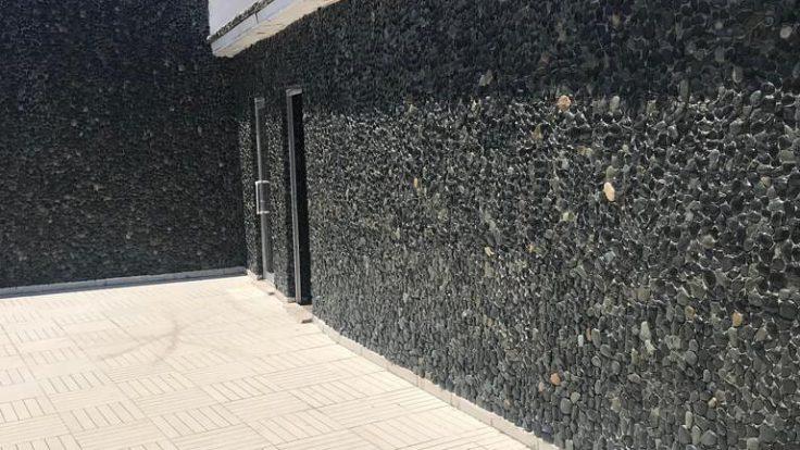 Bazalt patlatma duvar taşları